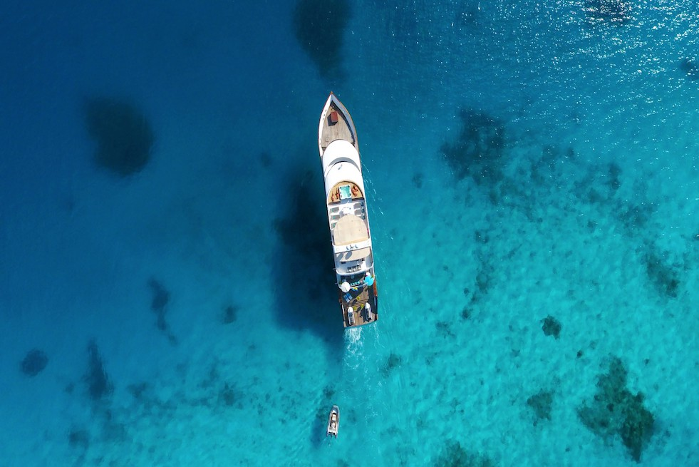 Azalea Maldives Yacht Seen From Above